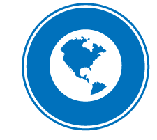 image of North and Central America on a circle used as an icon