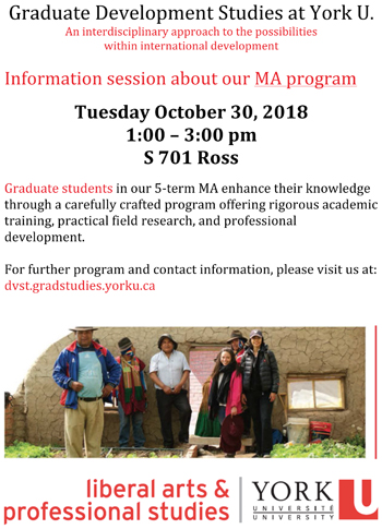 MA Information Session poster
