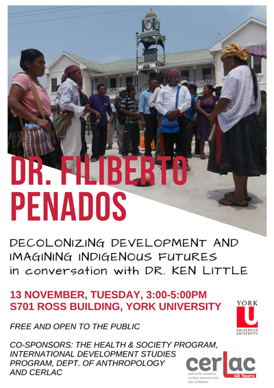 image of the poster promoting Decolonizing Development and Imagining Indigenous Futures talk.
