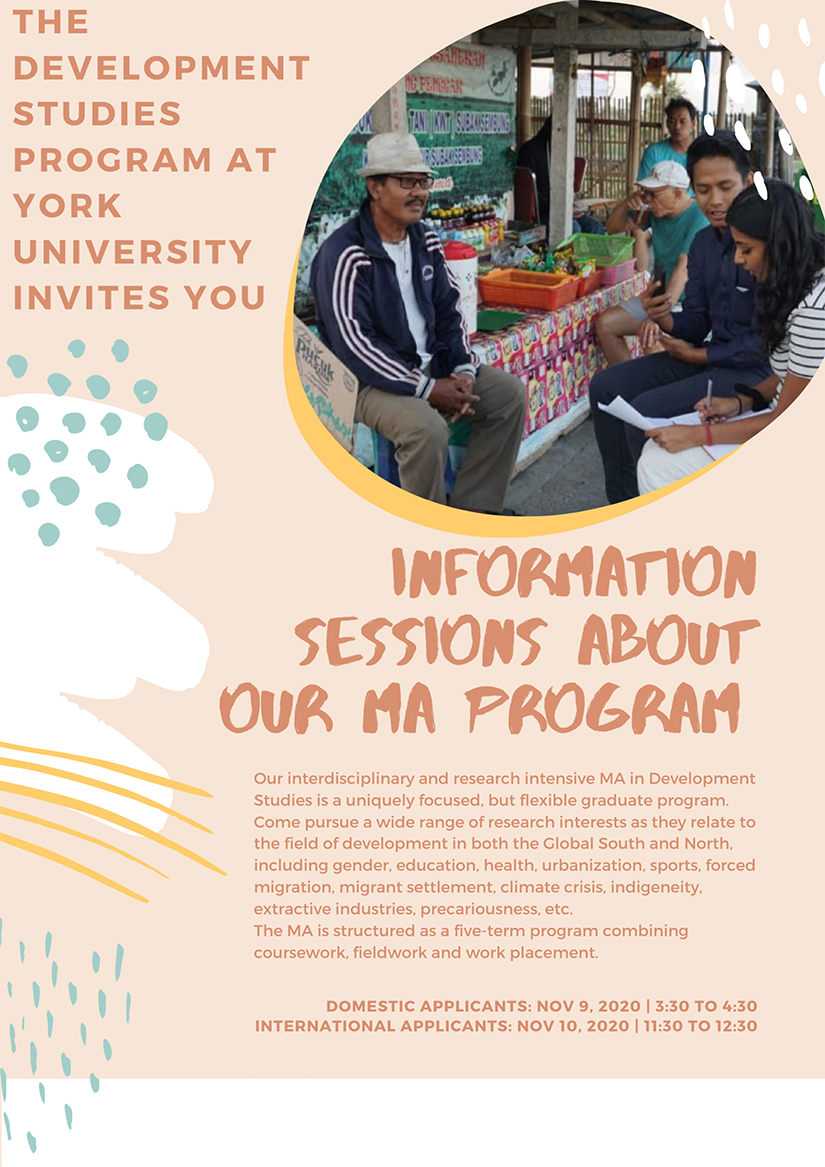 promotional image for DVST information sessions