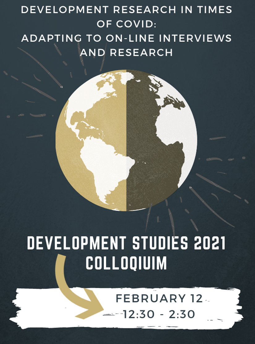 image of the promotional poster for the Development Studies 2021 Colloquium