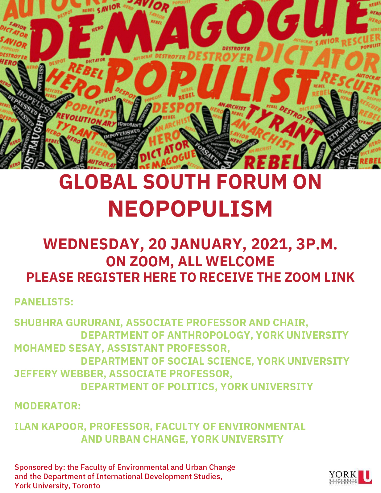 promotional poster for the neopopulism promotional poster